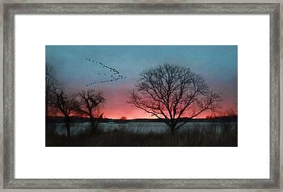 Middle Creek Sunrise 4 Framed Print by Lori Deiter