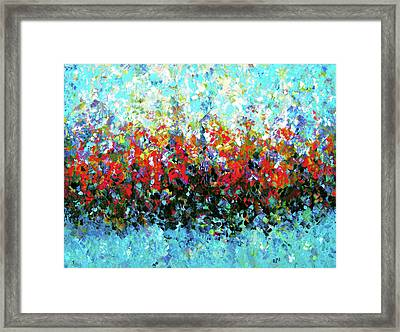 Middle Earth Abstract Framed Print