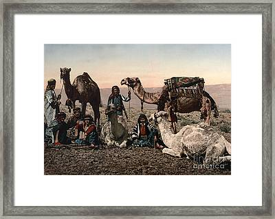 Middle East: Travelers Framed Print