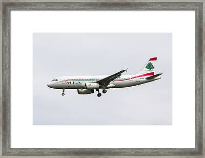 Middle Eastern Airlines Airbus Framed Print
