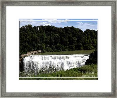 Middle Falls In Rochester New York Framed Print