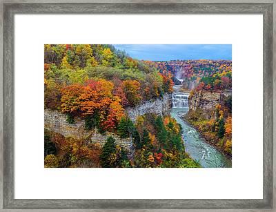 Middle Falls Peak Framed Print by Mark Papke