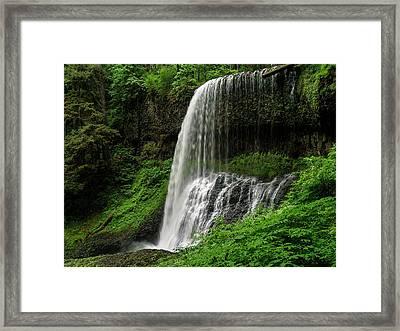 Middle Falls Framed Print