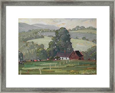 Middle Farm Framed Print