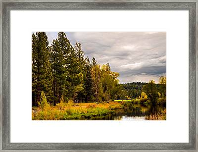 Middle Fork Framed Print