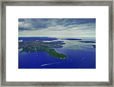 Middle Head And Sydney Harbour Framed Print