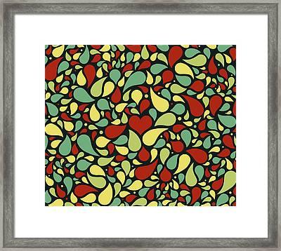 Middle Heart Beat  Framed Print