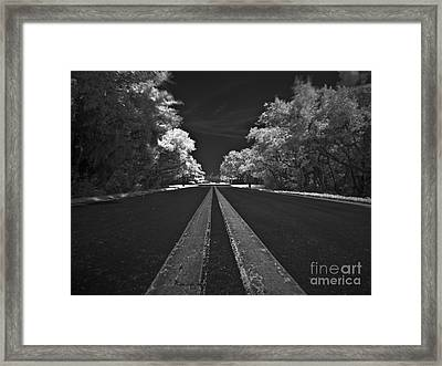 Middle Line Framed Print by Rolf Bertram