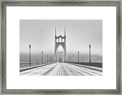 Middle Of Bridge Framed Print by Chad Latta