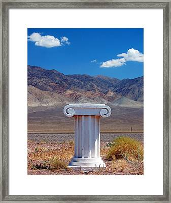 Middle Of Nowhere Framed Print by Heather S Huston