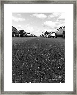 Middle Of Street Framed Print by WaLdEmAr BoRrErO