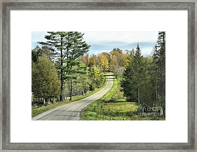 Middle Road In Autumn Framed Print by Deborah Benoit