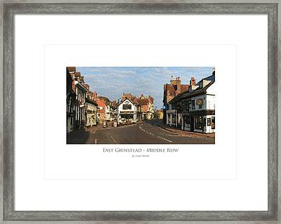 Framed Print featuring the digital art Middle Row East Grinstead by Julian Perry