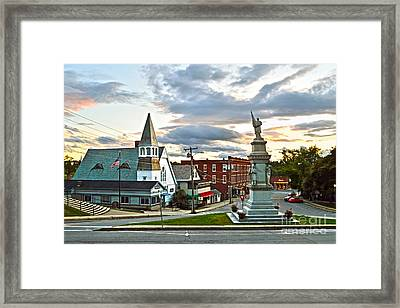 Middlebury Vermont At Sunset Framed Print by Catherine Sherman