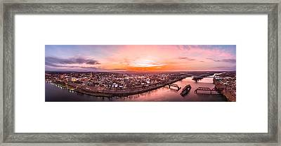 Framed Print featuring the photograph Middletown Connecticut Sunset by Petr Hejl