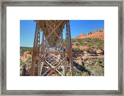 Midgley Bridge Framed Print by Donna Kennedy