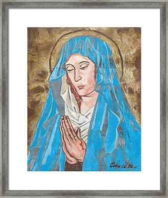 Framed Print featuring the painting Midieval I by Janelle Dey