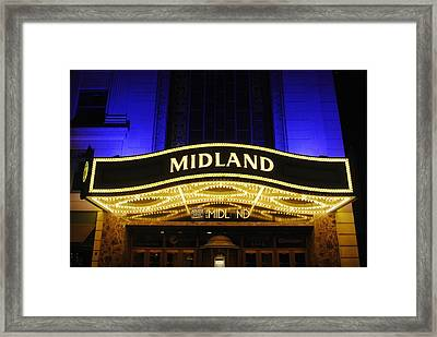 Midland Theater Framed Print