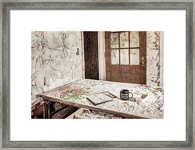 Midlife Crisis In Progress - Abandoned Asylum Framed Print