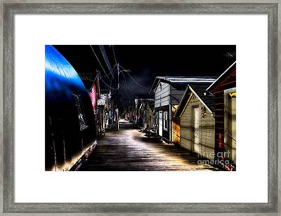 Midnight At The Boathouse Framed Print