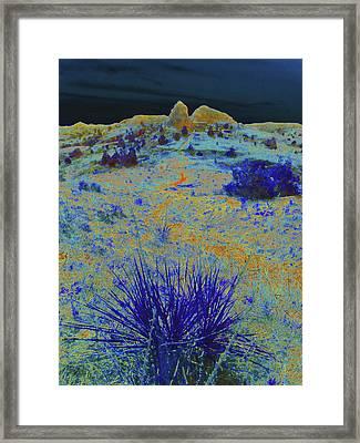 Midnight At The Burning Coal Vein Framed Print