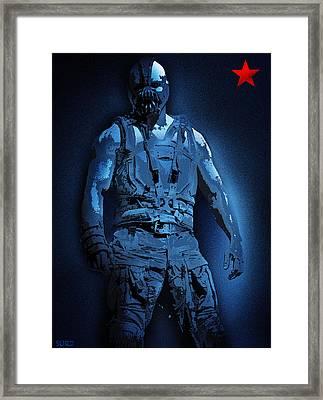 Midnight Bane Framed Print by Surj LA