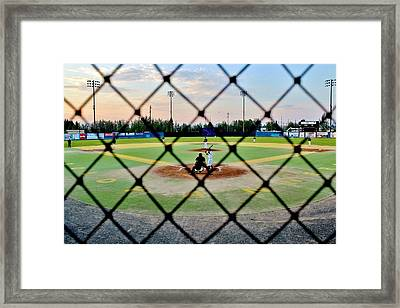 Framed Print featuring the photograph Midnight Baseball by Benjamin Yeager