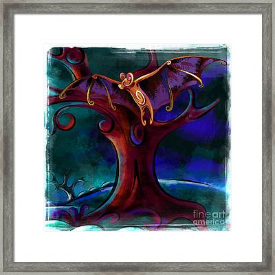 Midnight Bat Framed Print