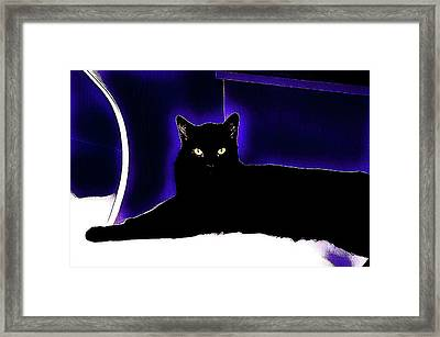 Midnight Black Framed Print