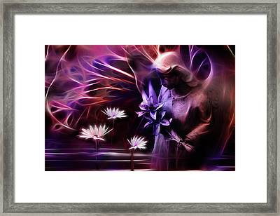 Midnight Blessing Framed Print by John  Poon
