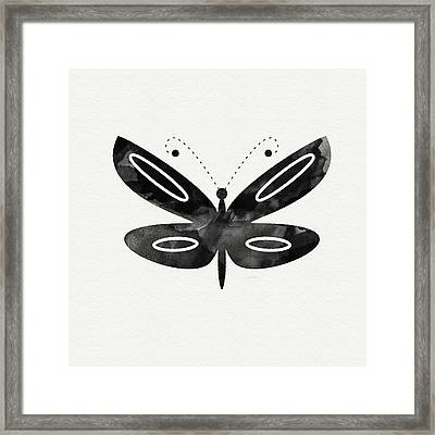 Midnight Butterfly 1- Art By Linda Woods Framed Print by Linda Woods
