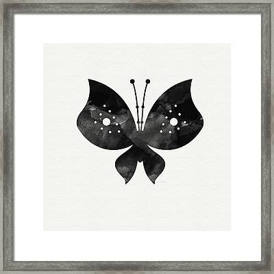 Midnight Butterfly 2- Art By Linda Woods Framed Print by Linda Woods