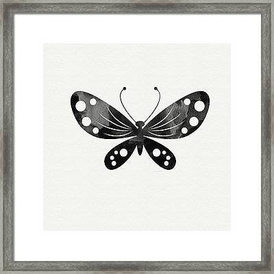 Midnight Butterfly 3- Art By Linda Woods Framed Print by Linda Woods