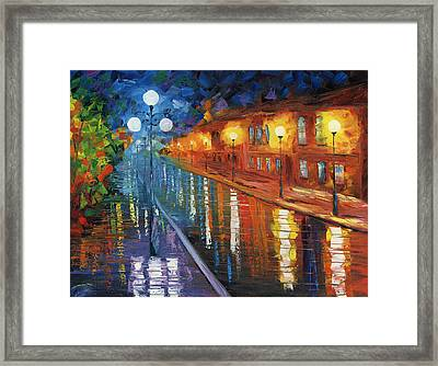 Midnight City Framed Print by Ash Hussein