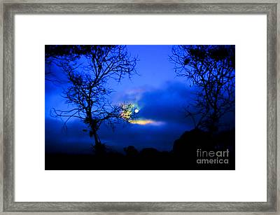 Midnight Clouds Framed Print