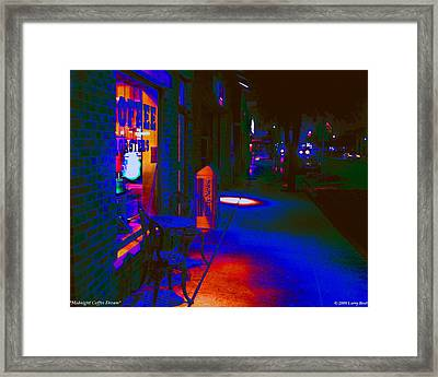 Midnight Coffee Dream Framed Print