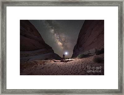 Walls Closing In Framed Print by Michael Ver Sprill