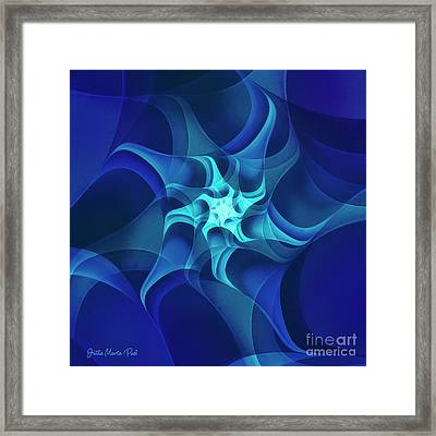 Framed Print featuring the digital art Midnight Flower by Jutta Maria Pusl