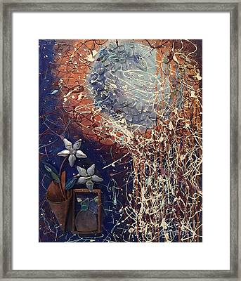 Midnight Flowers Framed Print