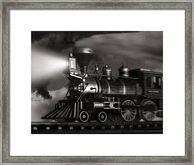 Midnight Flyer Framed Print by Tom Mc Nemar