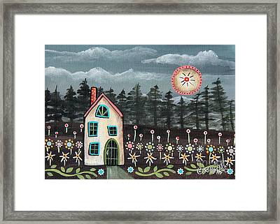 Midnight Garden Framed Print by Karla Gerard