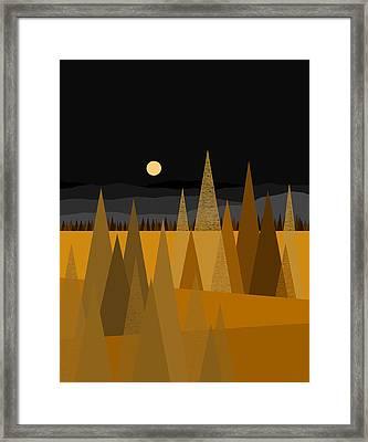 Midnight Gold Framed Print