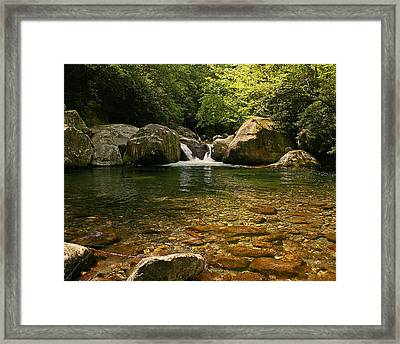 Midnight Hole In Big Creek Framed Print
