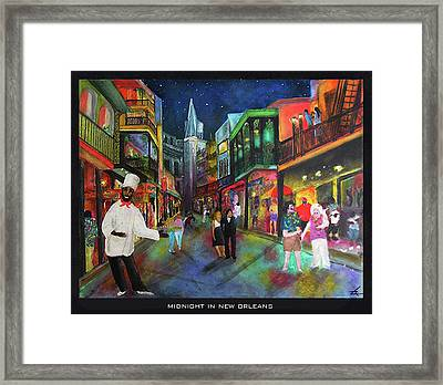 Midnight In New Orleans Framed Print
