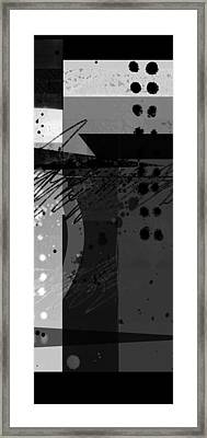 Midnight In The City 2 Triptych Framed Print by Ann Powell