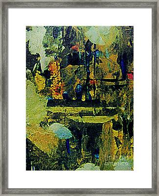 Midnight In The Garden Framed Print by Nancy Kane Chapman