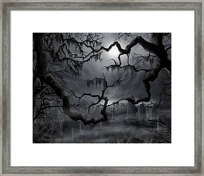 Midnight In The Graveyard II Framed Print