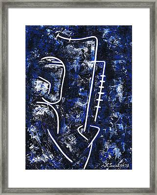 Midnight Jazz With Ben Webster Framed Print by Kamil Swiatek