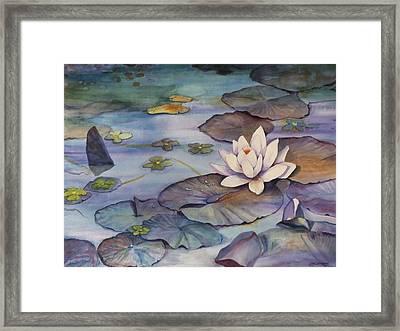 Midnight Lily Framed Print by Jun Jamosmos