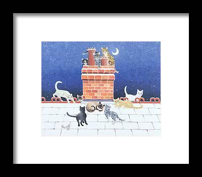 Chimney Tops Framed Prints